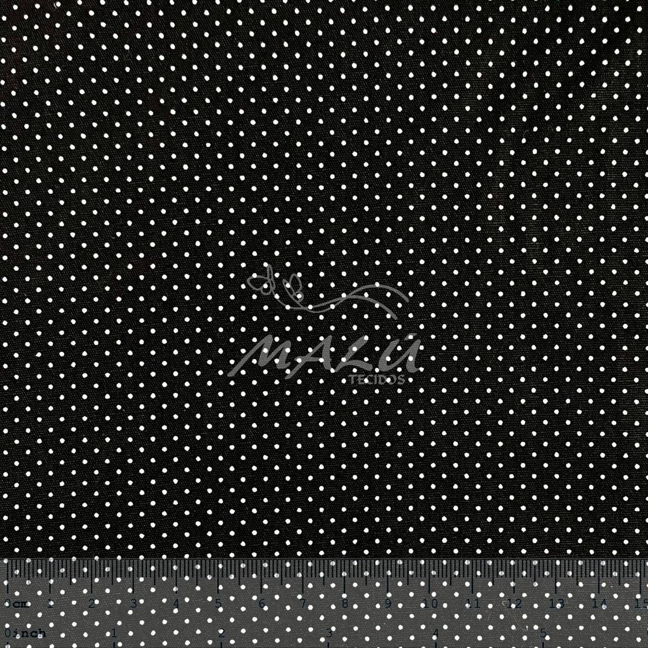 Tricoline Poazinho Preto com Branco