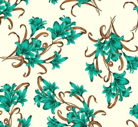 Lençol Elegance Flor Verde Tiffany 2,45m Larg. 150 Fios 63%Alg.