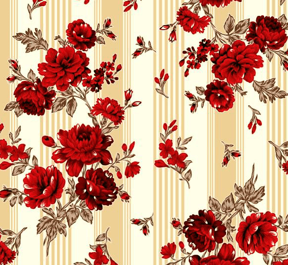 Lençol Elegance Flor Vermelha 2,45m Larg. 150 Fios 63%Alg.