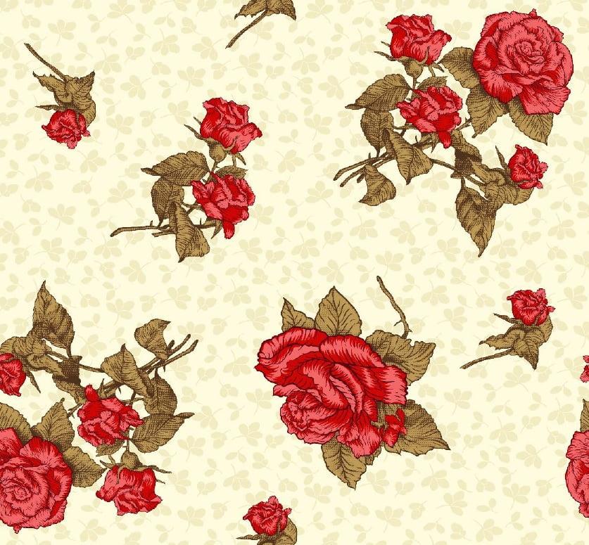 Lençol Elegance Floral 2,50mLarg. 150fios 63%Alg.