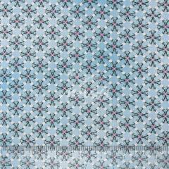 Tricoline Flor Poeirinha Azul TRICO9677