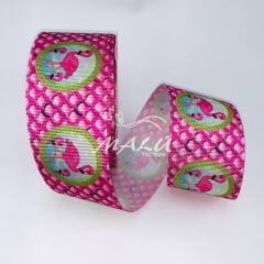 Fita Gorgurão Estampada Flamingo 767 N9 10mts