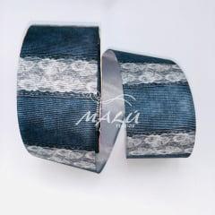 Fita Gorgurão Estampada Jeans Renda 776 N9 10mts