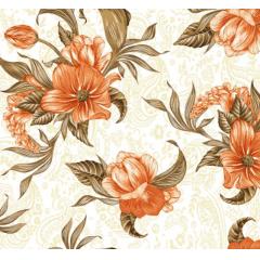 Lençol Elegance Flor Laranja 2,45m Larg. 150fios ELE6984