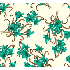 Lençol Elegance Flor Verde Tiffany 2,45m Larg. 150fios ELE6982