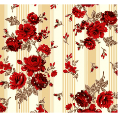 Lençol Elegance Flor Vermelha 2,45m Larg. 150fios ELE6980