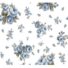 Lençol Elegance Floral 2,45m Larg. 150 Fios 63%Alg.