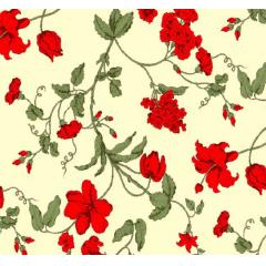 Lençol Elegance Flores Vermelhas Tiffany 2,45m Larg. 150fios ELE6983