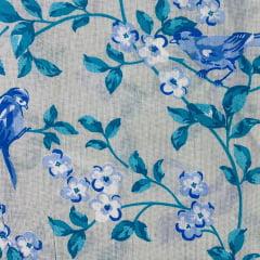 Lençol Riolen Floral Azul 2,20m Largura RIO1511
