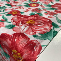 Lençol Riolen Flores Grandes 2,20m Largura