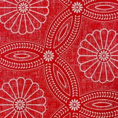 Lençol Riolen Ornamento Vermelho 2,20m Largura RIO1510