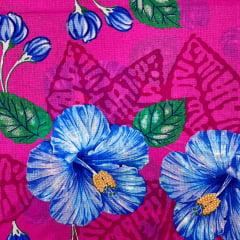Chita Rosa Pink Flor Azul CHI0719
