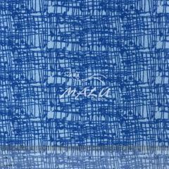 Tricoline Riscado Azul