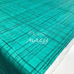 Tricoline Riscado Verde Tiffany