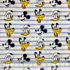 Tricoline Mickey Pato Donald e Pluto