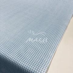 Tricoline Mista 50% Alg. Textoleen Xadrez Azul