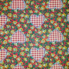 Textoleen 50% Alg. Floral Coração