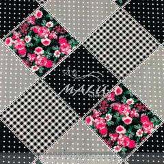 Tricoline 70% Algodão Patchwork Floral Rosa SET6998