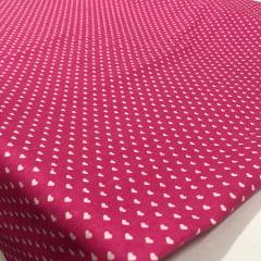 Textoleen 50% Alg. Coração Rosa Pink