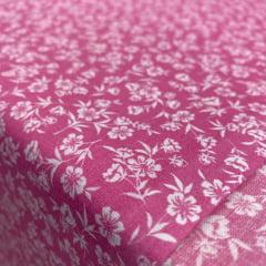 Tricoline Mista 50% Alg. Floral Rosa