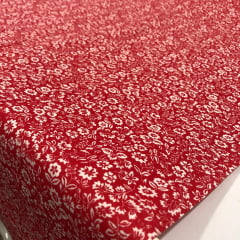Textoleen 50% Alg. Floral Vermelho