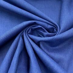 Tricoline Mista 50% Alg. Liso Azul Royal TEX7765