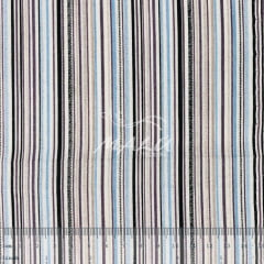 Tricoline Mista 50% Alg. Listrado Azul TEX7886