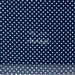 Tricoline Mista 50% Alg. Poa Azul Marinho TEX7882