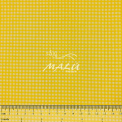 Tricoline Mista 50% Alg. Xadrez Amarelo TEX7831
