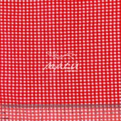 Tricoline Mista 50% Alg. Xadrez Vermelho TEX7830