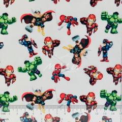 Tricoline Mista Heróis Marvel SET6970