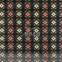 Tricoline Floral com Ornamentos TRICO9658