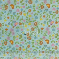 Tricoline Passarinhos Florais TRICO8812