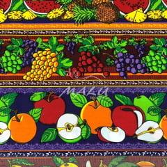 Tricoline Barrado de Frutas em Tons Escuros TRICO9780