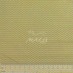 Tricoline Chevron Amarelo e Branco TRICO8927