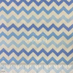Tricoline Chevron Azul com Branco TRICO8922