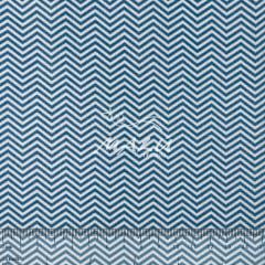 Tricoline Chevron Azul e Branco TRICO9527