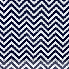 Tricoline Chevron Azul Marinho e Branco TRICO8921