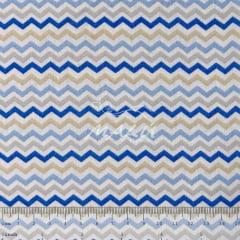 Tricoline Chevron Azul Branco e Cinza TRICO9680