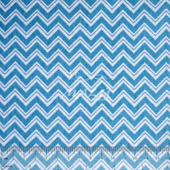 Tricoline Chevron Largo Azul com Filetes TRICO9679