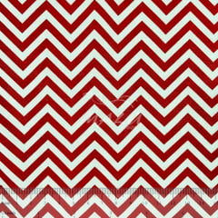 Tricoline Chevron Vermelho e Branco TRICO8926