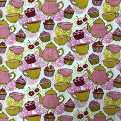 Tricoline Bule Chá Cupcake TRICO9955