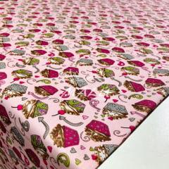 Tricoline Cupcakes Rosa