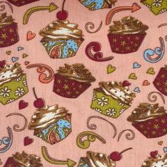 Tricoline Cupcakes Rosê TRICO8537