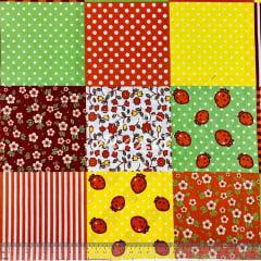Tricoline Patchwork Frutas e Floral TRICO9196