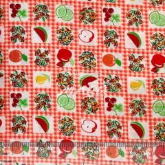 Tricoline Xadrezinho com Frutas TRICO9195