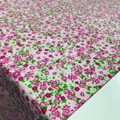 Tricoline Floralzinho Rosa