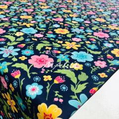 Tricoline Flores Coloridas