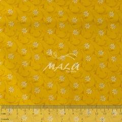 Tricoline Floral Amarelo TRICO9853