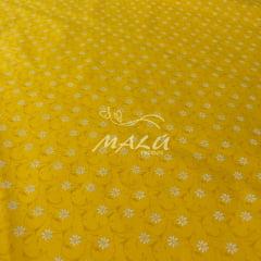 Tricoline Floral Amarelo